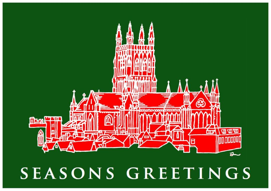 Wocester Cathedral Seasons Greetings