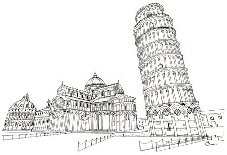 Leaning Tower of Pisa Mono