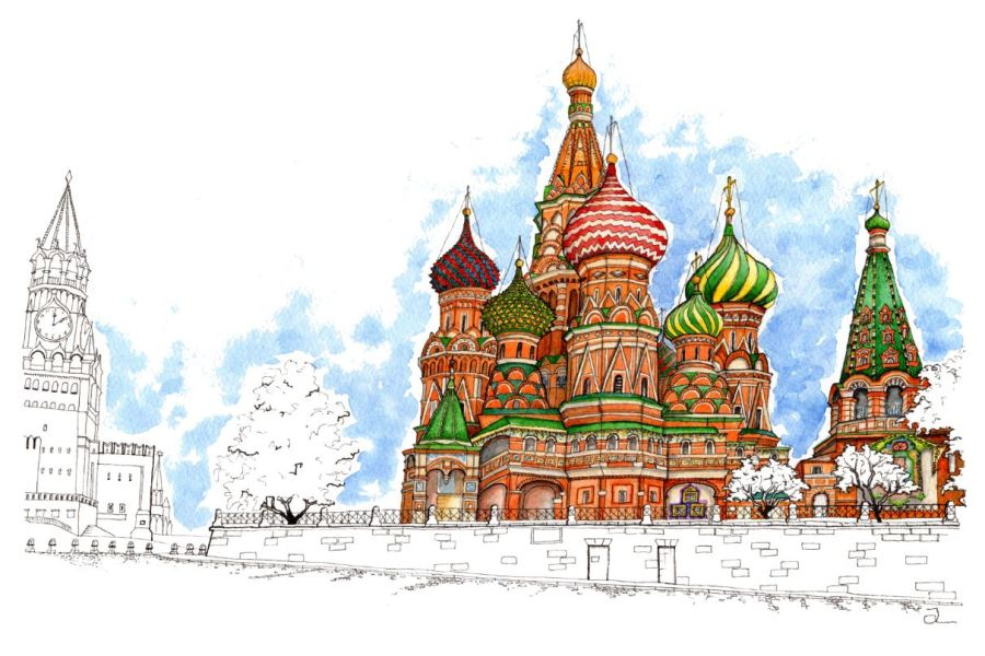 St Basil Catherdal Moscow Russia Snip