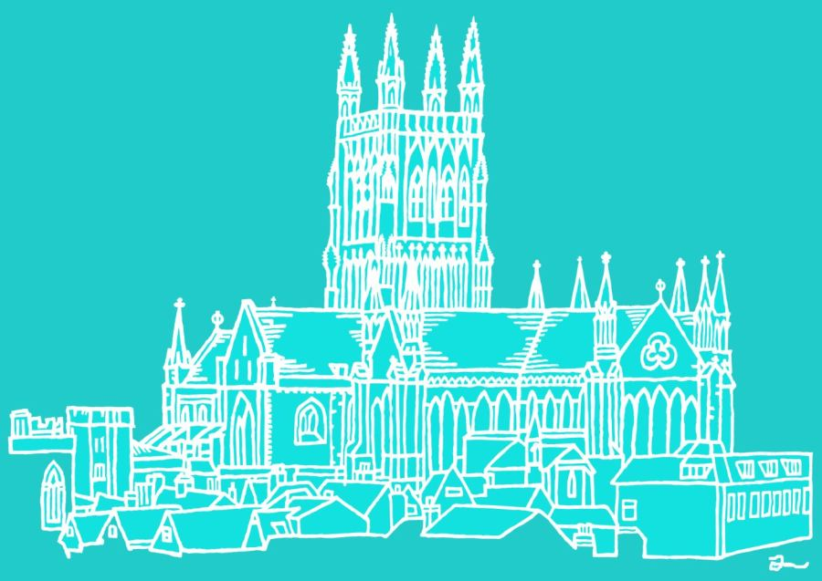 Cathedral 2 Tone Turquoise