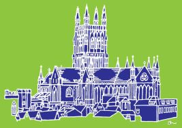 Cathedral Lime & Blue A0
